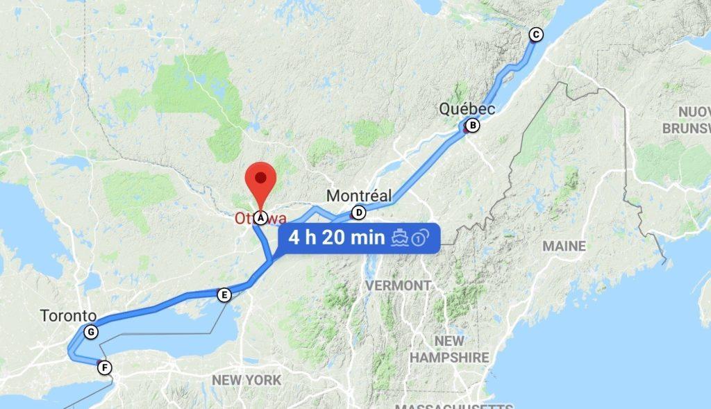 Cosa vedere in Canada Orientale itinerario
