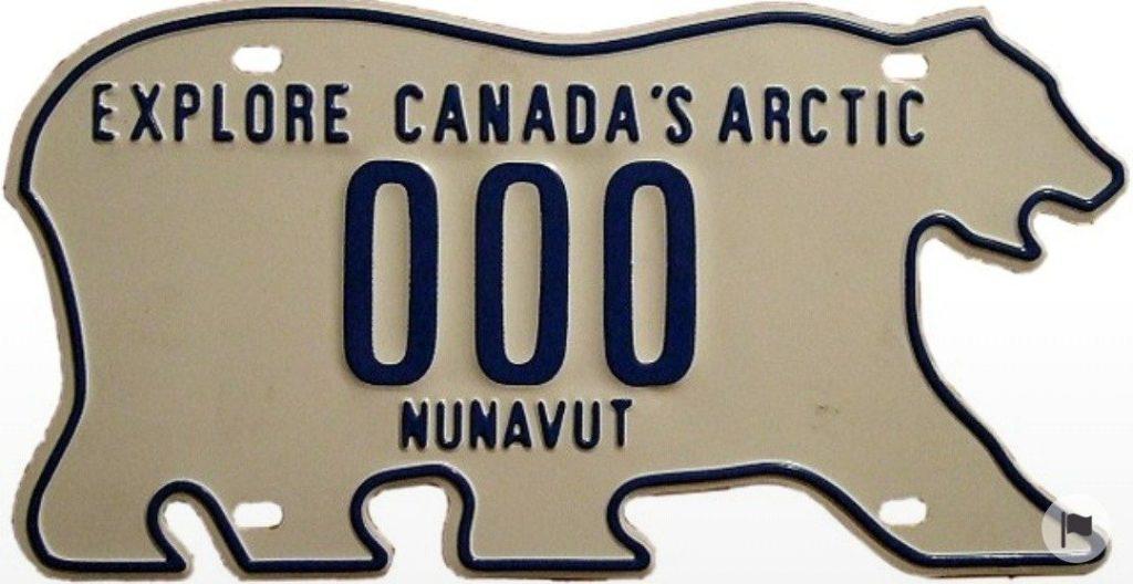 Curiosità sul Canada, targa a forma di orso