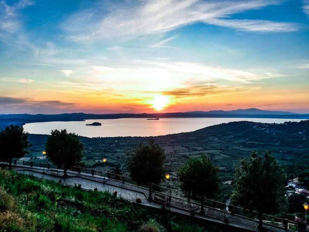 Montefiascone vista sul lago di Bolsena