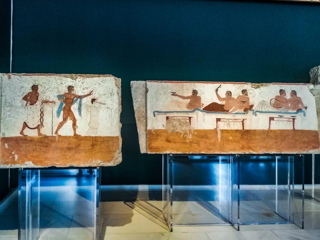 Cosa visitare a Paestum, tomba del Tuffatore