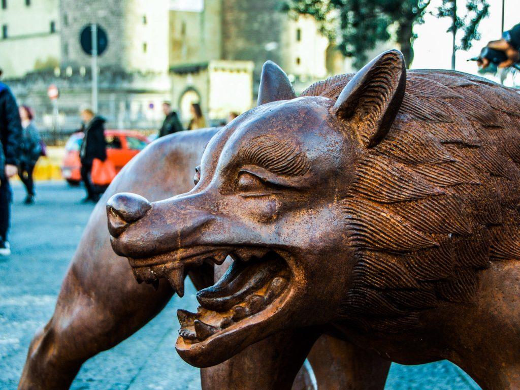 Napoli bambini lupi
