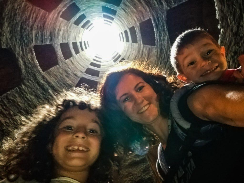 Selfie Orvieto pozzo San Patrizio
